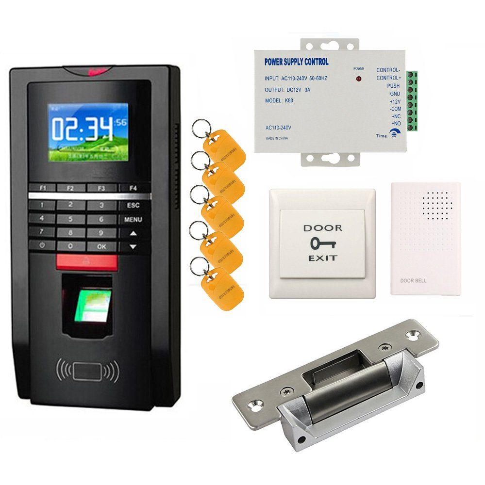 Bio Fingerprint Reader and Rfid Key Fob Door Access Control System \u0026 Time Attendance Kits ANSI  sc 1 st  Pinterest & Bio Fingerprint Reader and Rfid Key Fob Door Access Control System ...