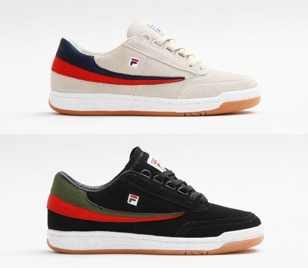 Concepts X Fila Original Tennis Black Cream Fila Tennis Shoes Sneakers