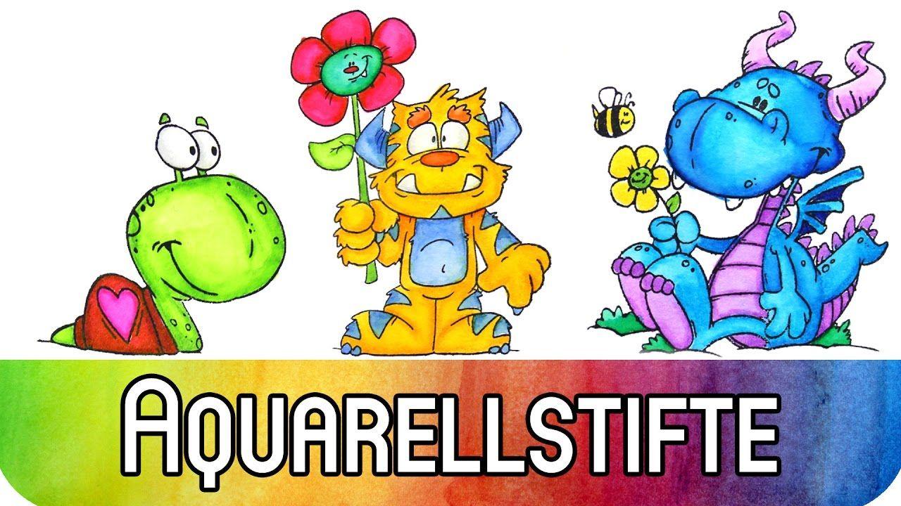 Din A4 Mit Aquarellstiften Aquarell Stifte Aquarell