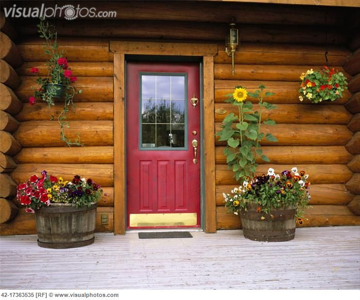 Entrance to a Log Cabin [42-17363535] | Front & Back Door Options ...