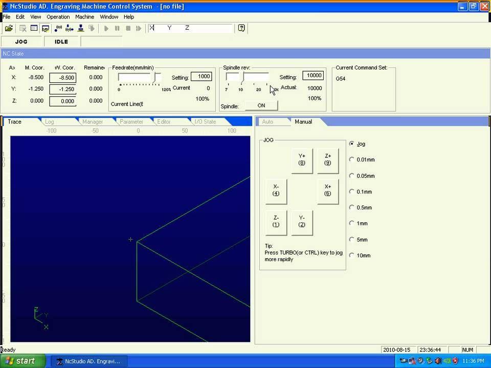 04 NC Studio Parameter Set CNC Milling by www SaleCNC com - YouTube
