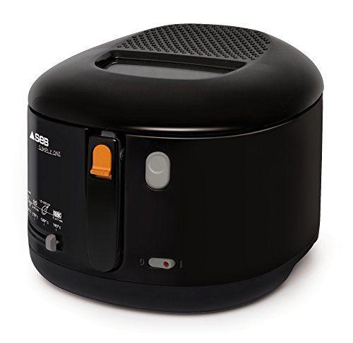 Seb Ff160800 Simply One Friteuse Compacte Avec Thermostat Noir Friteuse Electrique Friteuse Petit Electromenager