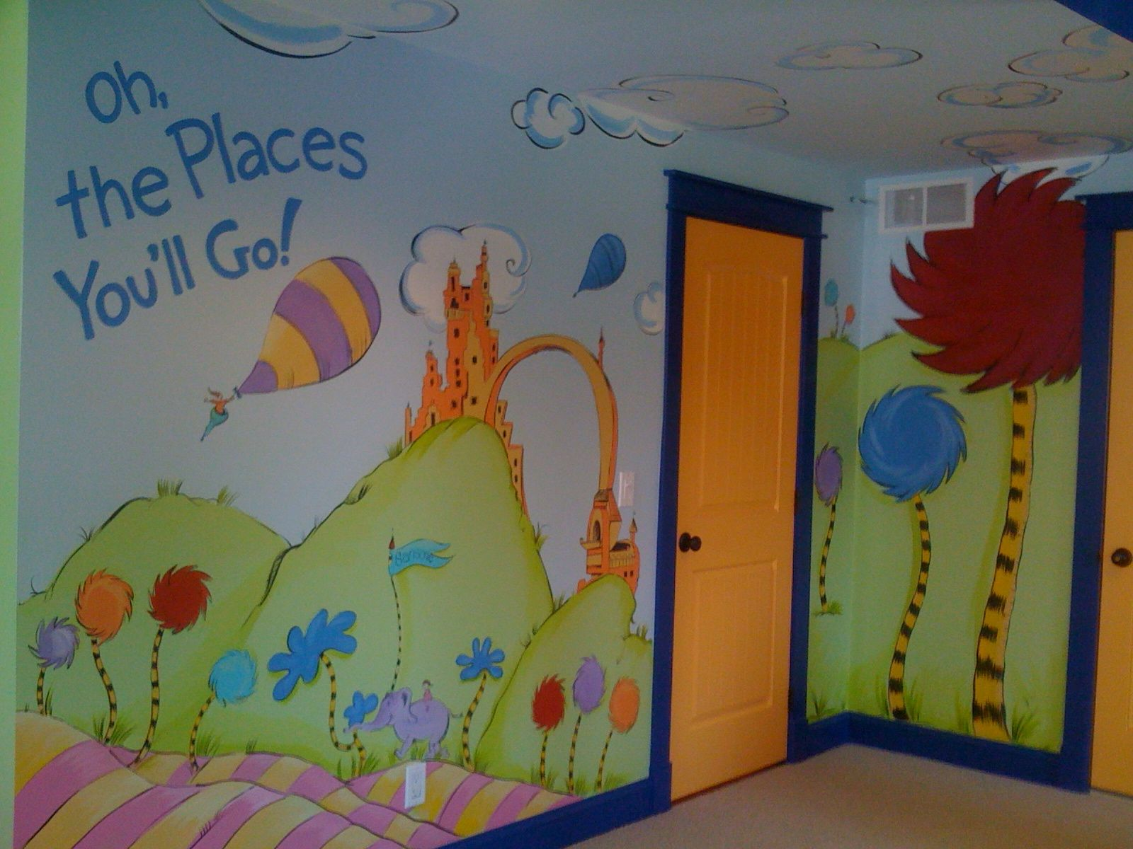 Great Dr. Seuss Mural  Awesome Design