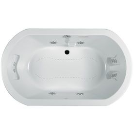 Jacuzzi Anza 72 In L X 42 In W X 26 In H 2 Person White Acrylic