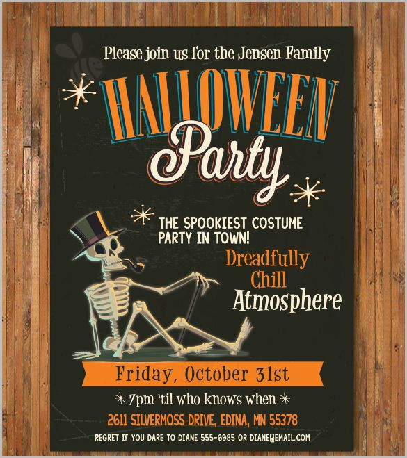 Halloween Invitation   Free Psd Vector Eps Ai Format