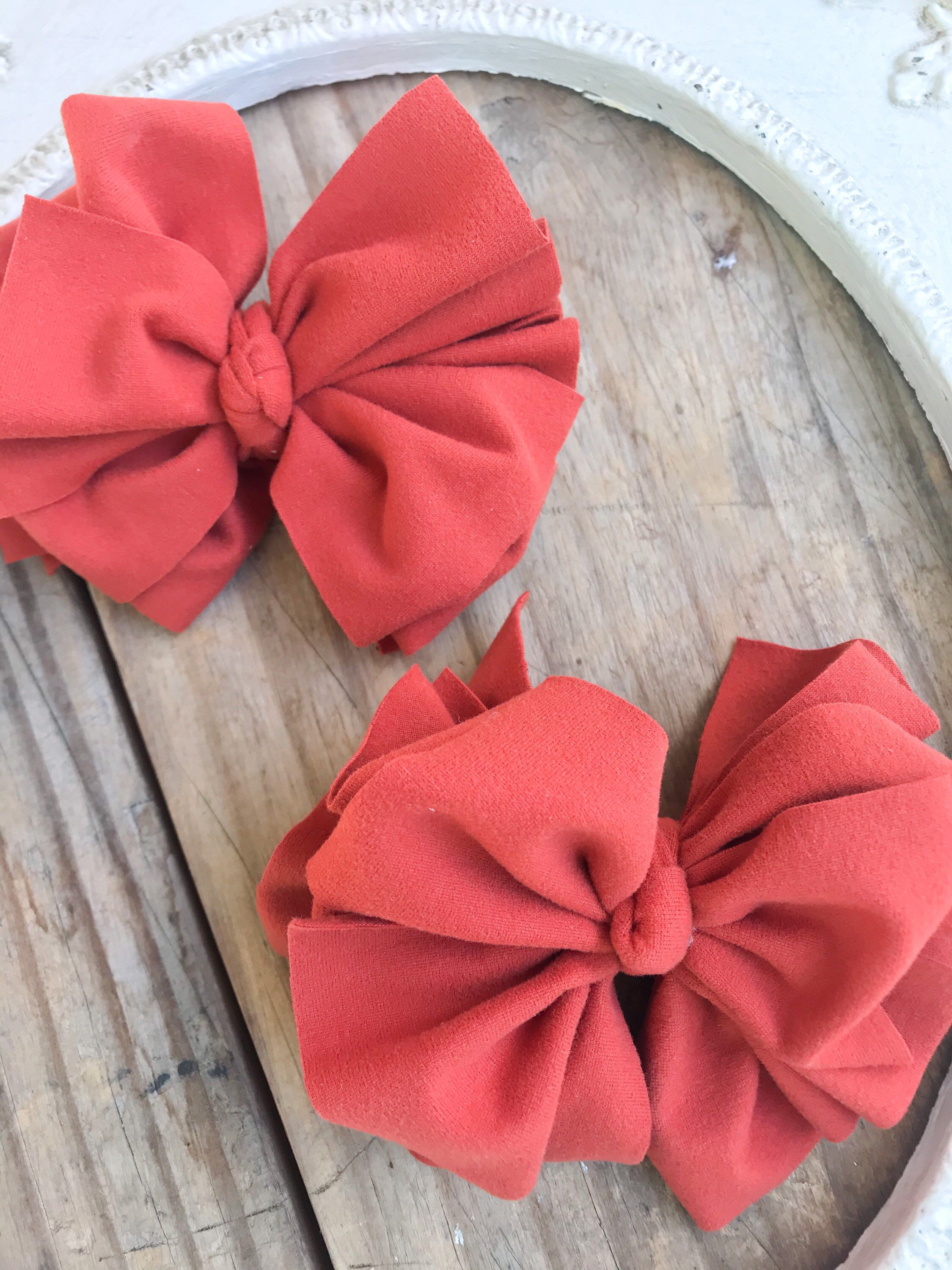 Pigtail Bows Mommy and Me Hair Bows for Baby Fabric Hair Bows Baby Headwrap Hair Bows on Clips Large Hair Bows Piggy Hair Bows