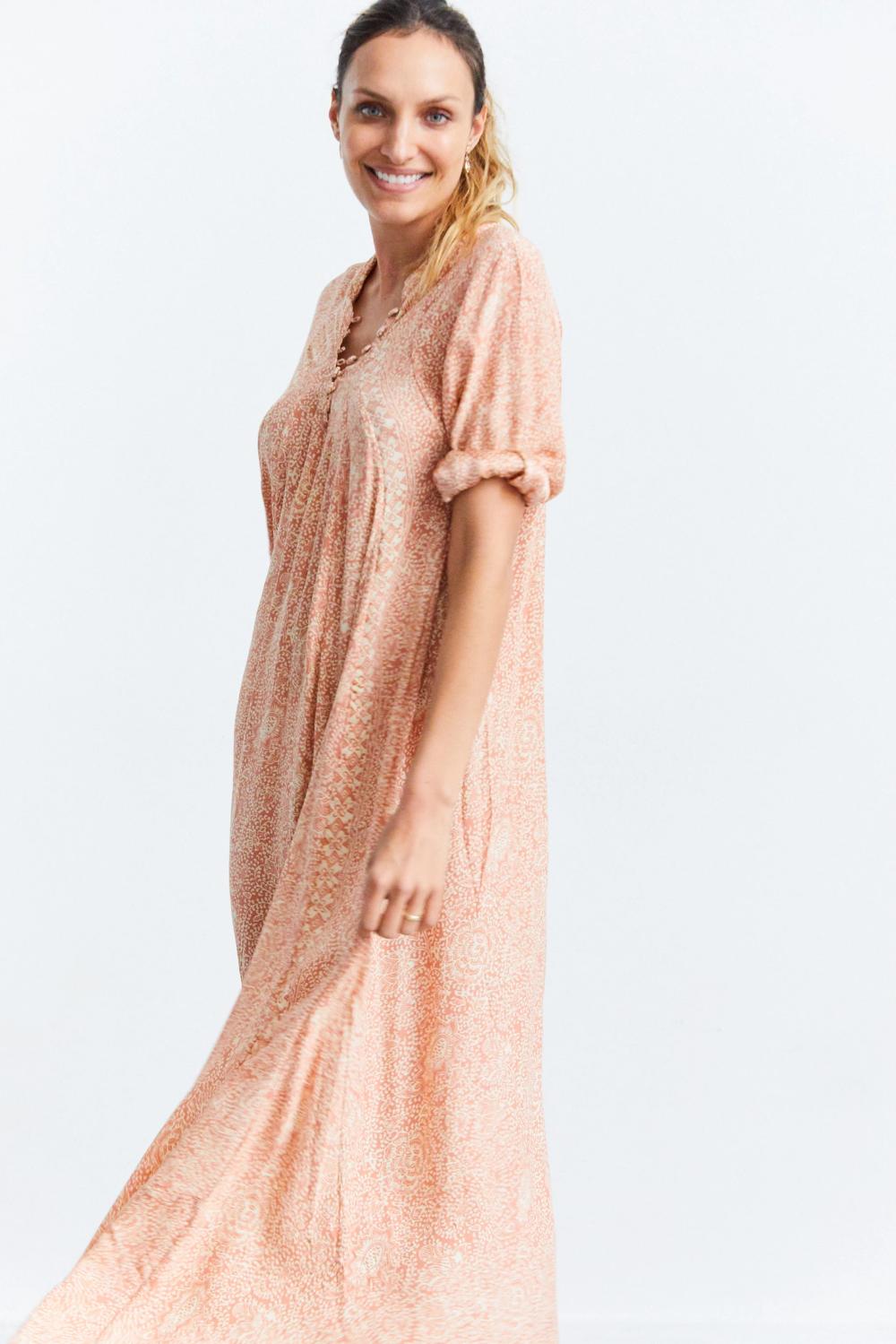 Natalie Martin Fiore Maxi Dress In Dune At Sunroom Dresses Simple Dresses Maxi Dress [ 1499 x 1000 Pixel ]
