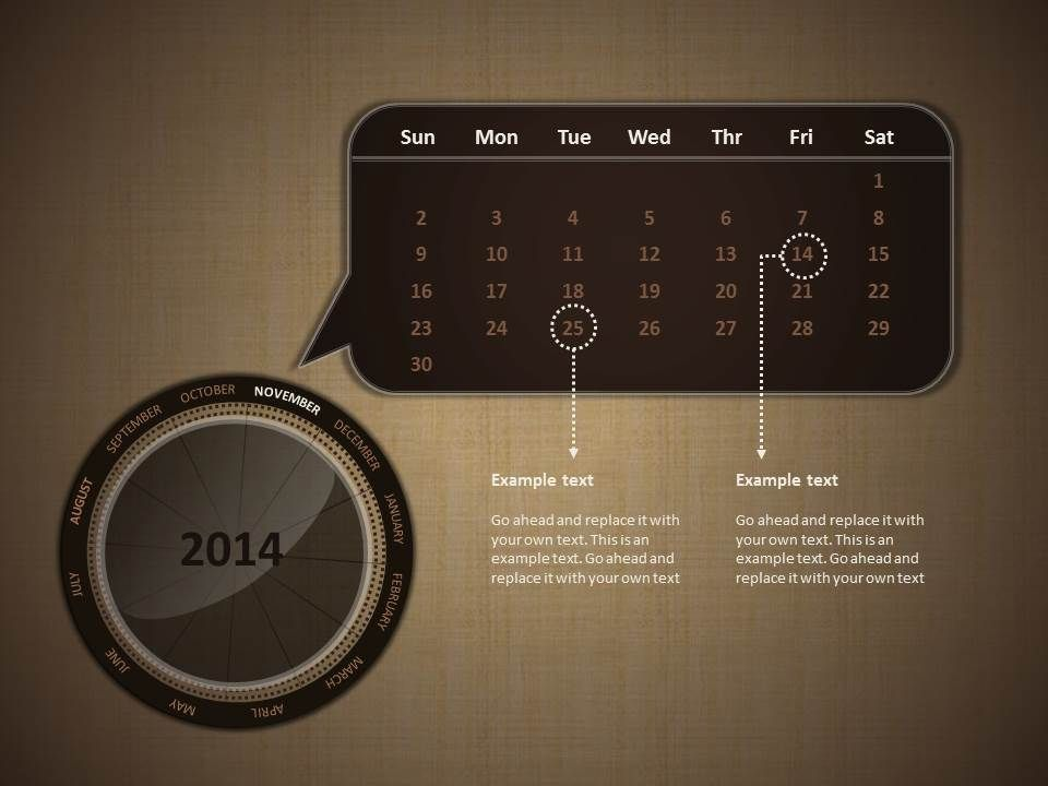 Here\u0027s a neat calendar 2014 knob design #Powerpoint #presentation