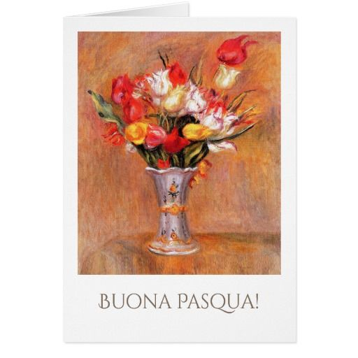 Buona pasqua fine art easter cards in italian easter greeting buona pasqua customizable fine art easter greeting cards in italian tulips m4hsunfo