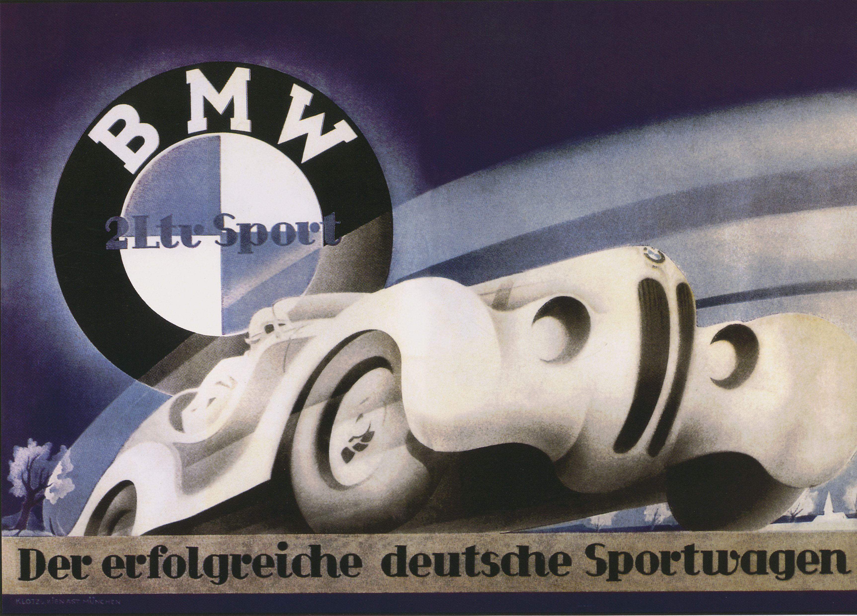 Vintage deutshe kabaret poster bmw 328 poster source bmw