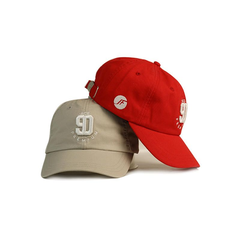 Red Embroidered Hat Dad Hats Embroidery Baseball Cap Unisex Red Skull