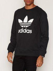 adidas adidas originals trefoil herr hoodie mottled grå