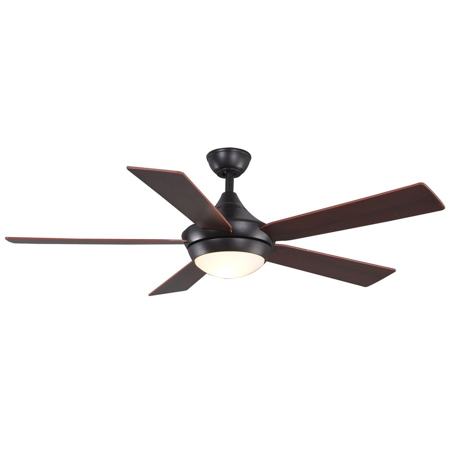 Allen Roth 52 In Portes Aged Bronze Ceiling Fan With Light Kit