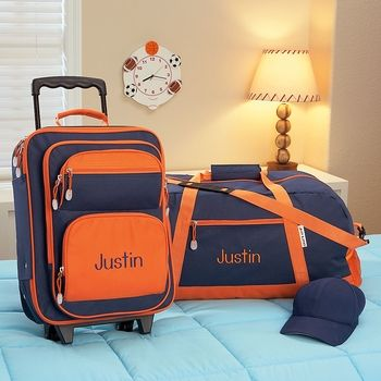 fc48ba892257 Navy and Orange Duffel Bag 23