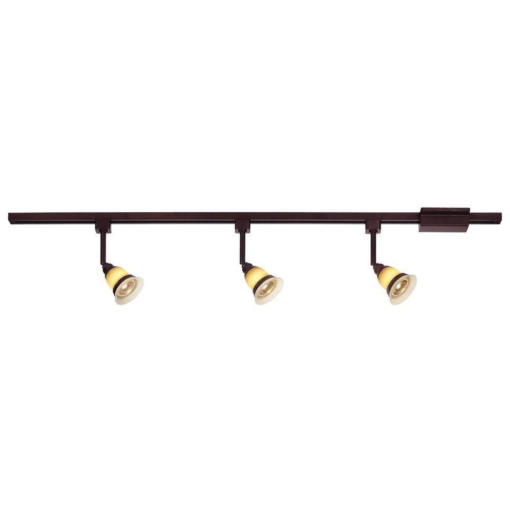H&ton Bay 3-Light Antique Bronze Linear Track Lighting Kit  sc 1 st  Pinterest & Hampton Bay 3-Light Antique Bronze Linear Track Lighting Kit | Track ...