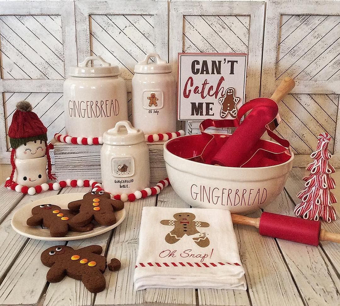 Rae Dunn Collecting On Instagram I Know I Know It S Way To Early For Christmas Decor Christmas Kitchen Decor Gingerbread Christmas Decor Christmas Kitchen
