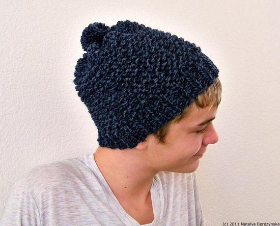 bdf6969069a23 Knit Hat Men, Mens Knit Hat, Mens Pom Pom Beanie, Mens Winter Hat ...