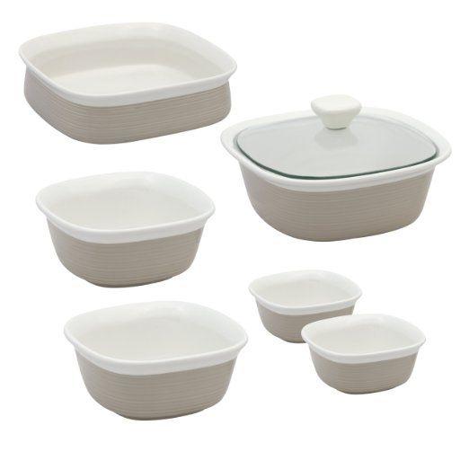 Amazon Com Corningware Etch 7 Piece Set Kitchen Dining Gas Grills On Sale Best Electric Pressure Cooker Baking Set