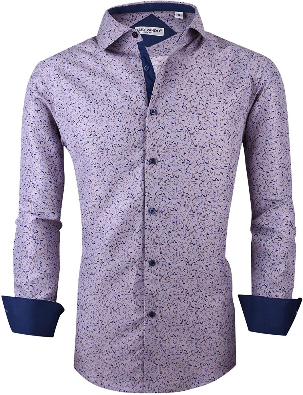 Alex Vando Mens Printed Dress Shirts Long Sleeve Regular Fit Fashion Shirt At Amazon Men S Clothing Store Shirt Dress Printed Dress Shirts Shirt Dress Casual [ 1303 x 1000 Pixel ]