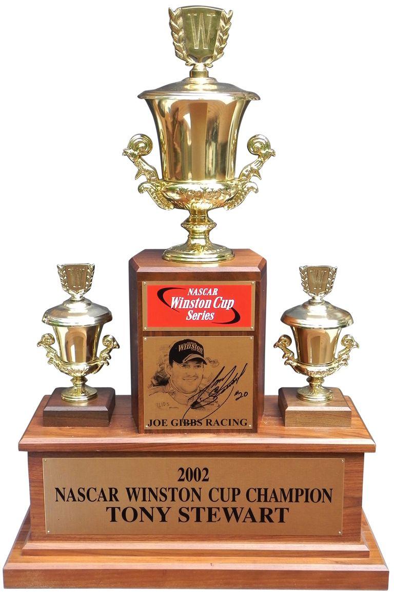 Tony Stewart S Winston Cup Championship Trophy Tony Stewart Joe Gibbs Racing Cup