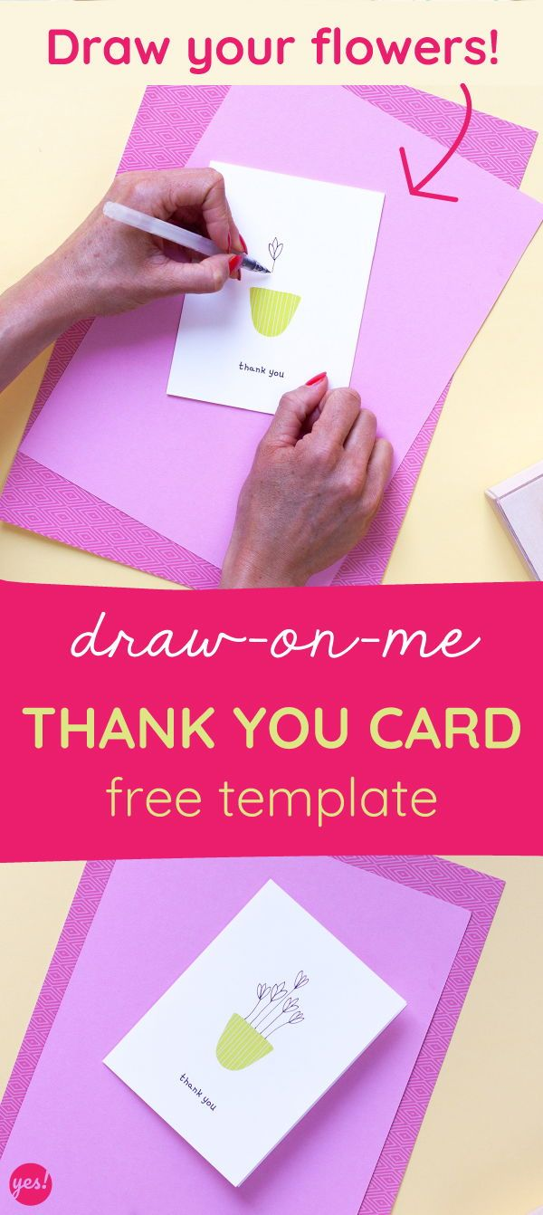 Draw-On-Me Printable Thank You Card Template | Thank you ...