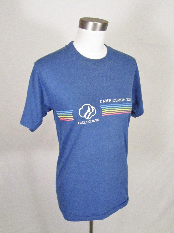 Vintage 80\'s Girl Scouts Leader\'s T-Shirt / Camp Cloud Rim / MEDIUM ...
