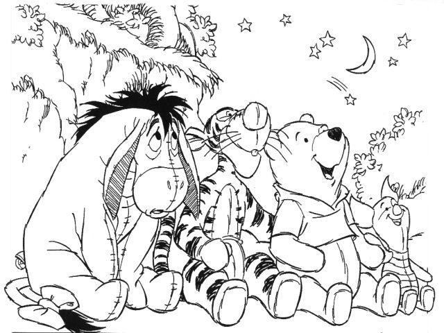 teigertje  winnie the pooh coloring pages friends