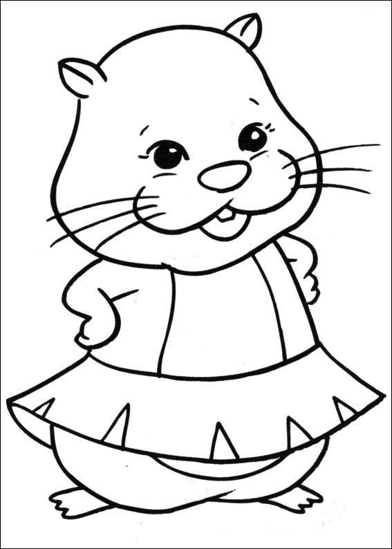 Zhu zhu pets coloring pages 14