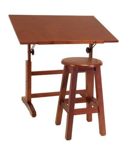 Studio Designs 13257 Creative Table And Stool Set Walnut By Studio Designs Http Www Amazon Com Dp B002xo0n Creative Tables Drawing Table Drawing Table Desk