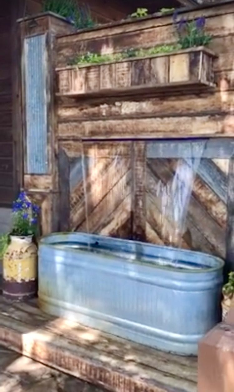 Waterfall Made From Pallets Trough Im Thinking Next Project