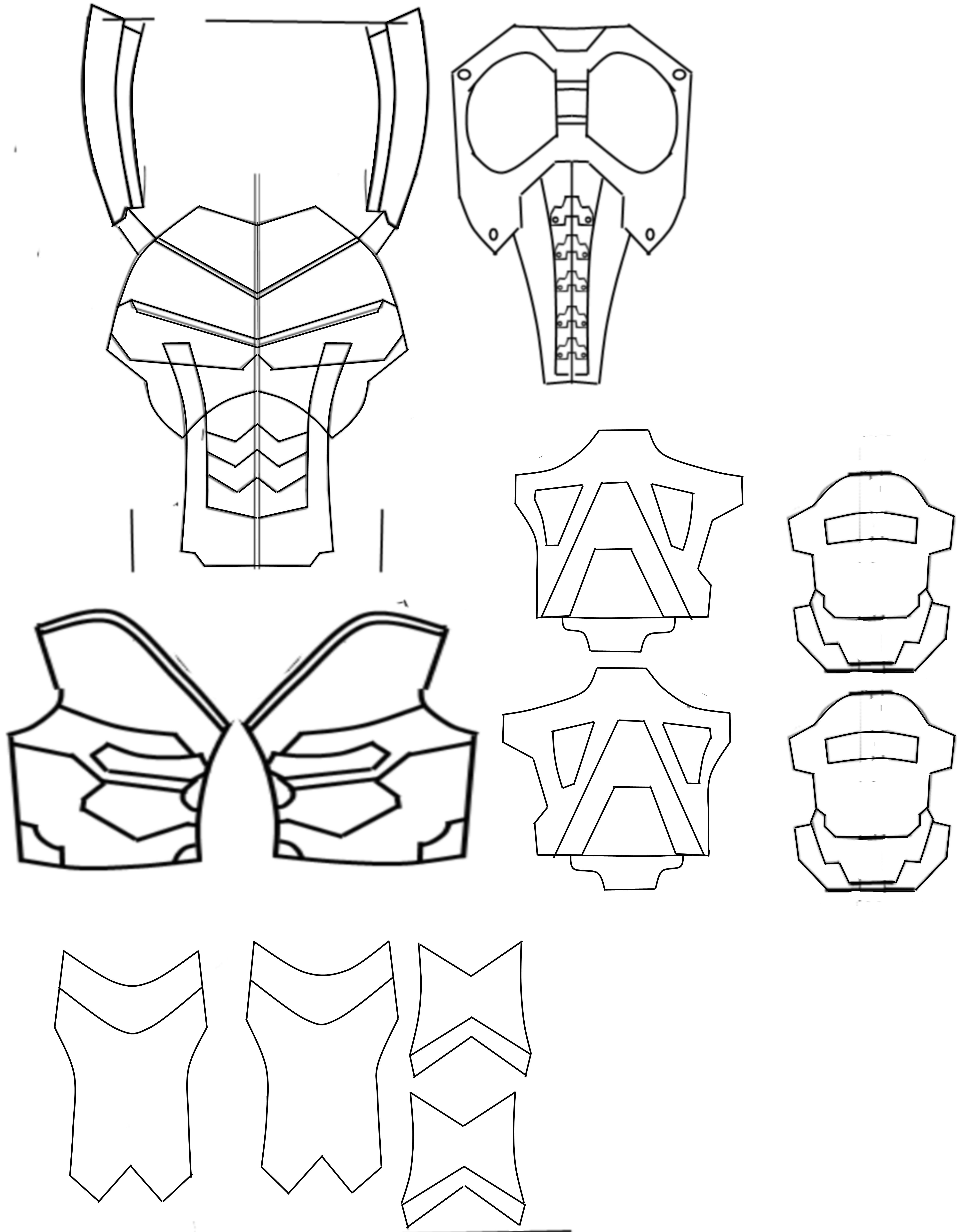 4 977 6 311 pixels armors pinterest for Deathstroke armor template