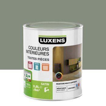 Peinture Gris Smoke 4 Luxens Couleurs Interieures Satin 0 5 L Couleur Interieure Peinture Grise Peinture Bleu