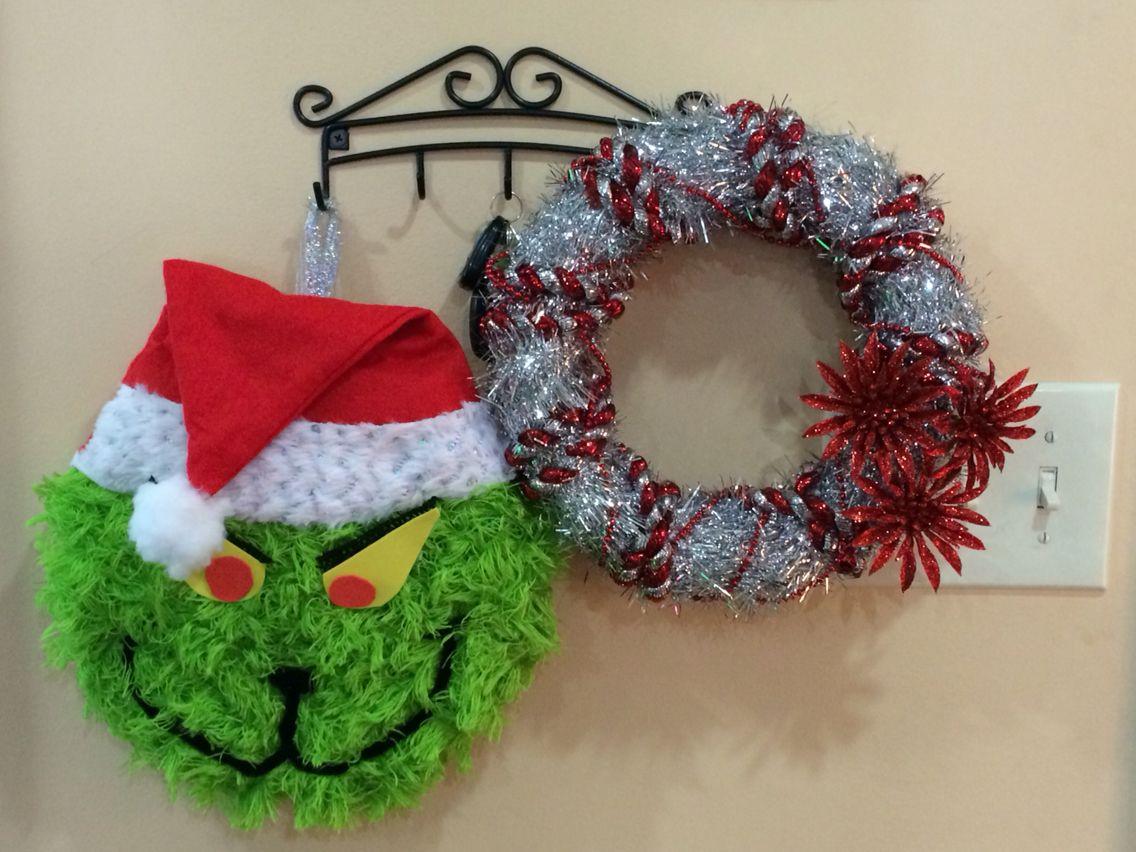 We did it.  Pinterest WIN! DIY-Grinch/wreath