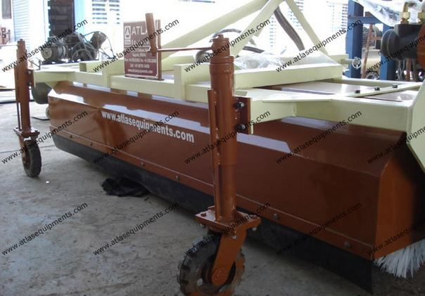 ATLAS #HydraulicBrooms can be conveniently moved by attaching at the rear of a tractor.