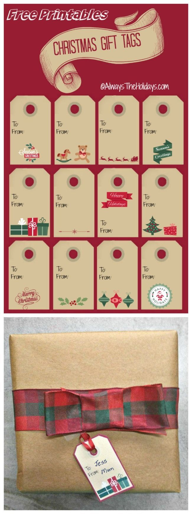 These free christmas labels add a hand made festive touch to your these free christmas labels add a hand made festive touch to your holiday packages christmaslabels dhristmasgifttags do it yourself today pinterest solutioingenieria