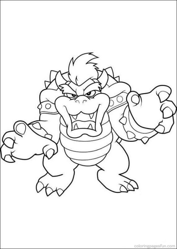 Super Mario Bros Coloring Pages 16 | mario party | Pinterest | Super ...