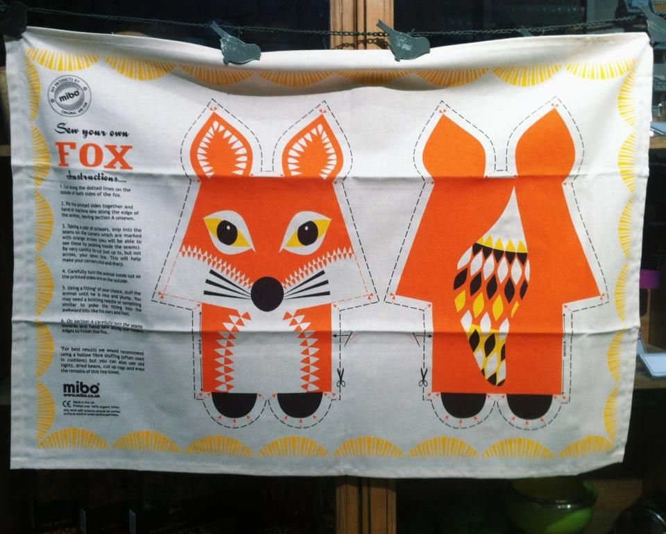 T Towel or... sew your own fox...or...frame it! Uneeka Life, Truro ...