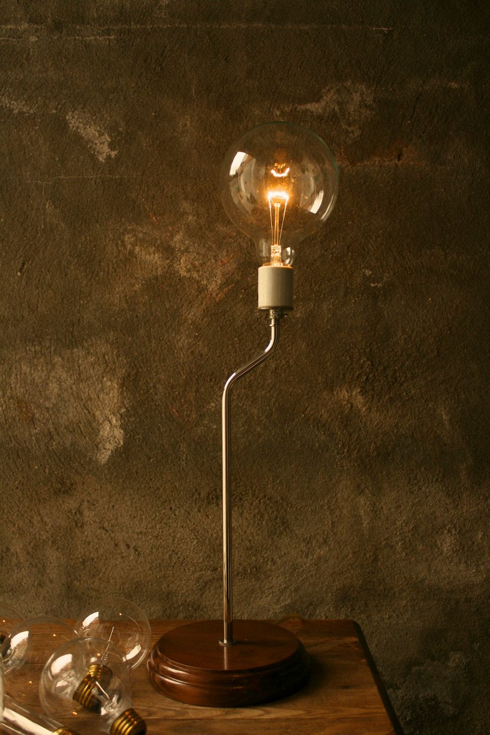 Industrial Table Lamp Light Wood Lamps Industrial Lighting Cool