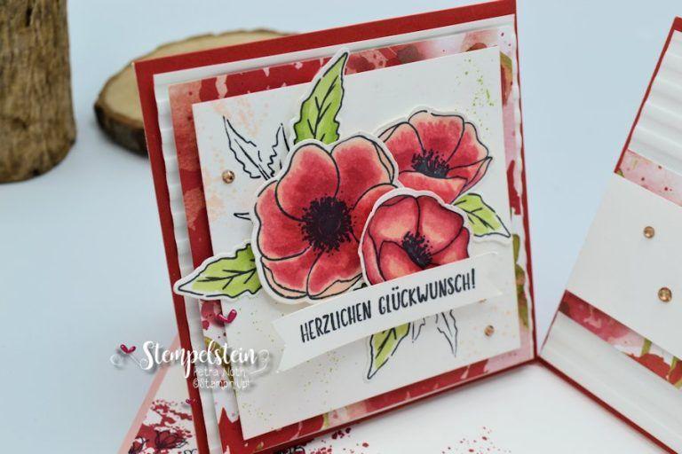 Su Sonntag 57 Double Twisted Easel Card Kreatives Mit Stampin Up In 2020 Stehkarten Papierkunstwerk Kreativ
