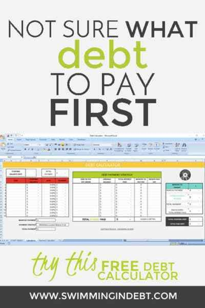 Paying Off The Debt  Part   Calculator Debt And Debt Free Living
