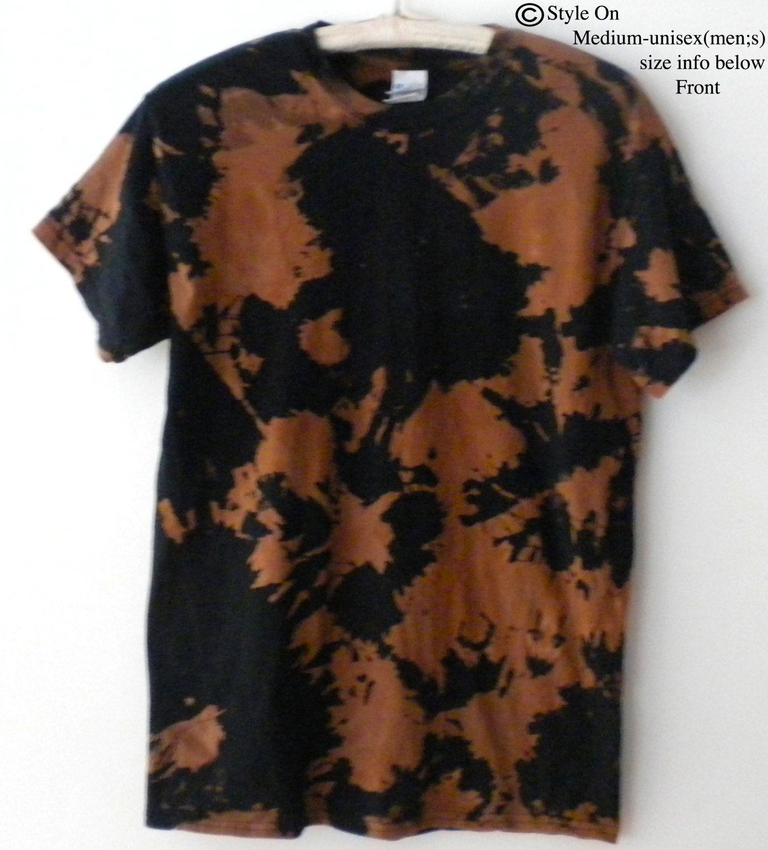 Acid wash Tee Shirt, Acid Wash T-shirt, Black T-shirt, Tie dye Tee ...