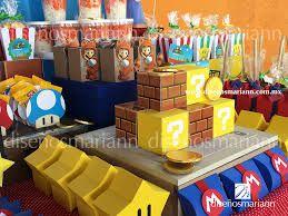 Resultado de imagen para decoracion de cumpleaños infantiles super mario bros en reciclaje