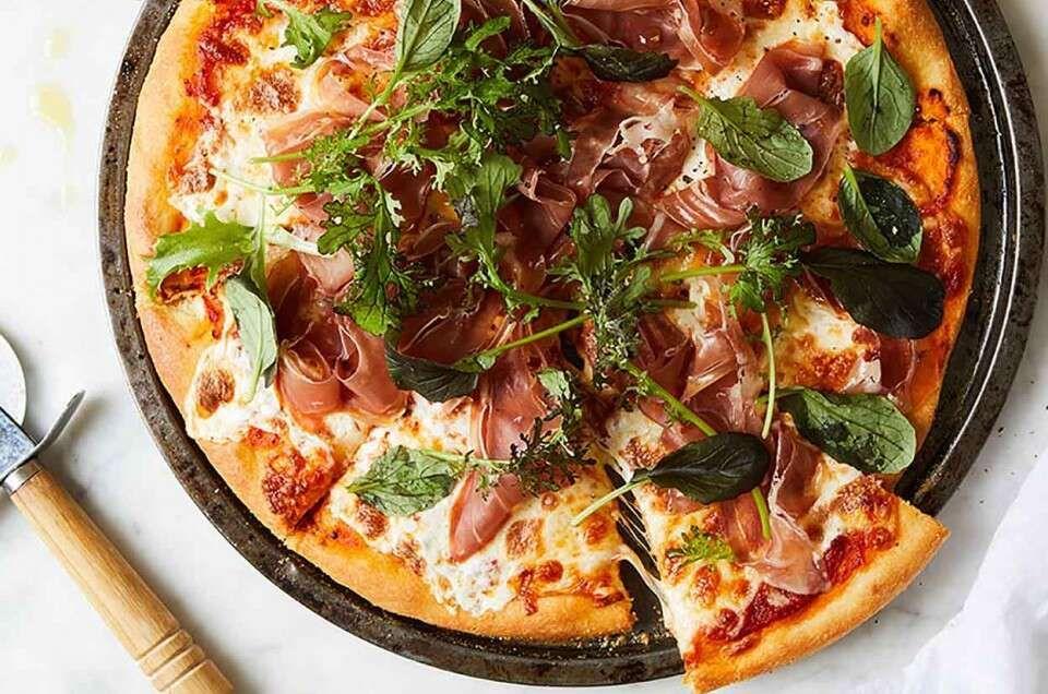 Ultra Thin Pizza Crust Recipe In 2020 Knead Pizza Thin Crust Pizza Thin Pizza