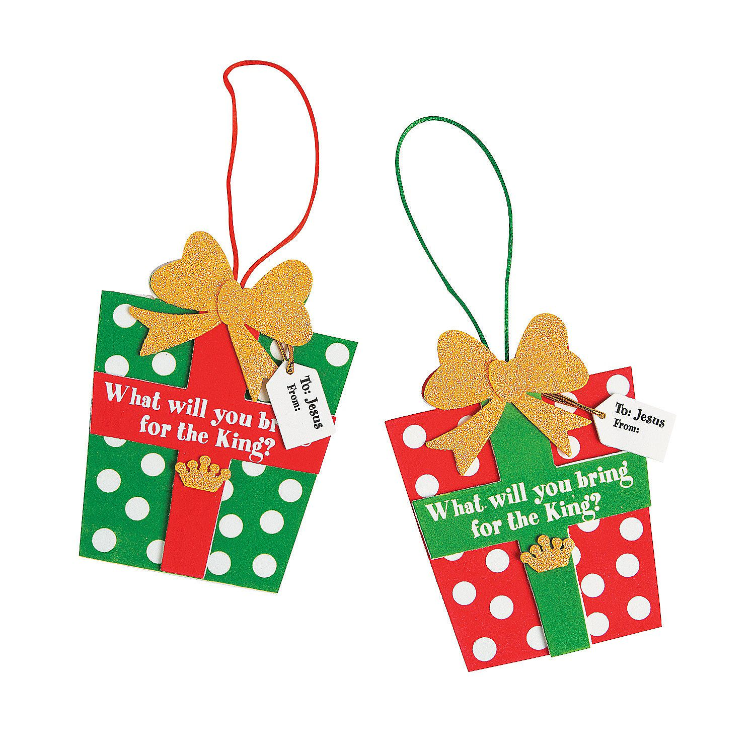 Gifts For the King Ornament Craft Kit - OrientalTrading.com