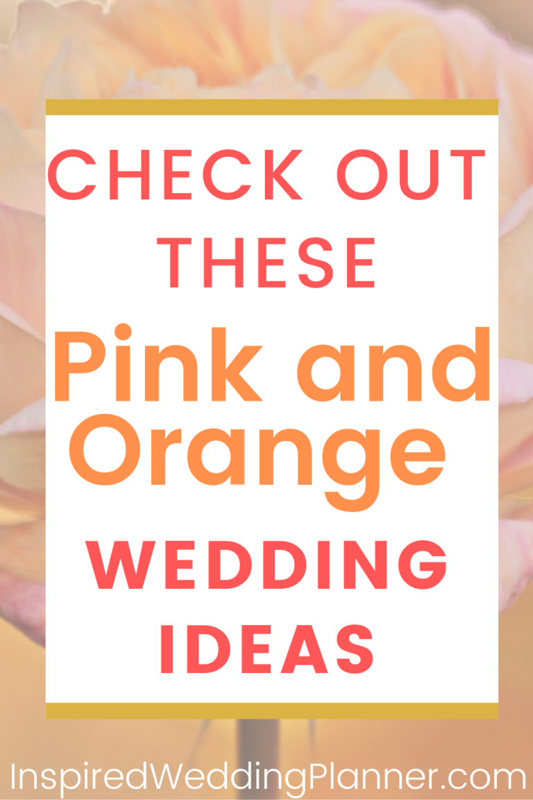 Pink and Orange Wedding Theme #planningyourday