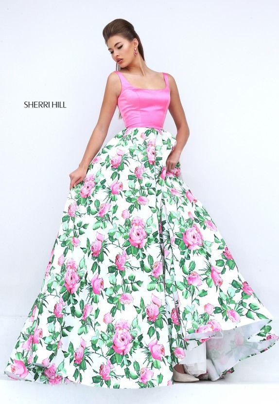 50462 sherri hill fancyrunway dresses pinterest pink satin sherri hill 50462 pink a line taffeta prom dress mightylinksfo