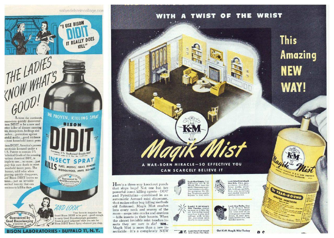 Vintage Bug Spray Ads For Ddt