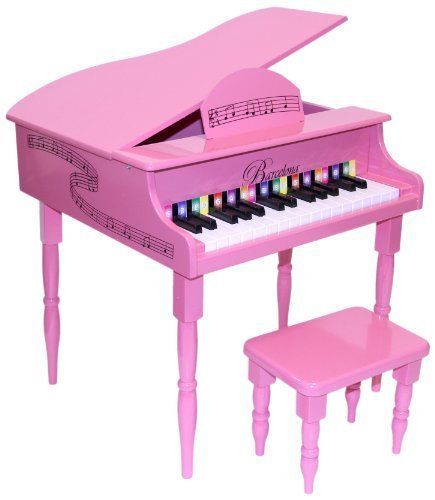 Barcelona kids 30 keys baby grand piano with matching for Smallest baby grand piano dimensions