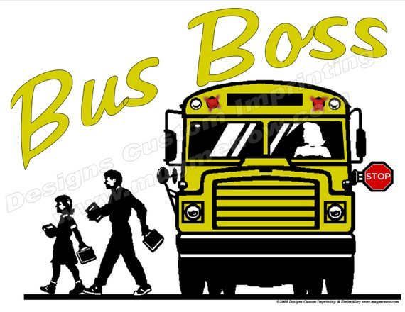 School Bus Driver Shirt Bus Boss Female Driver T Shirt