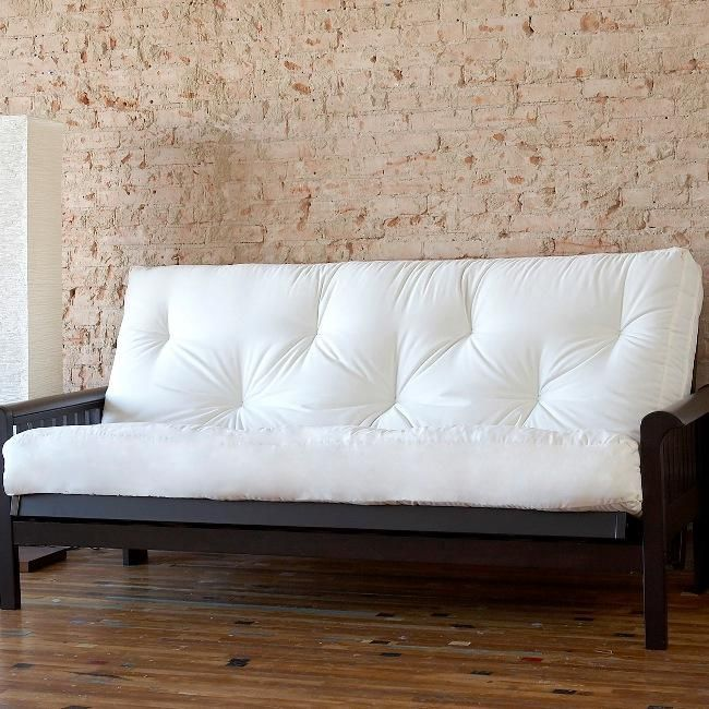 Six Inches Thick This Clic Laced Full Size Cotton Covered Futon Mattress Features Comfortable Tufting And A Soft Foam Core For Restful Support